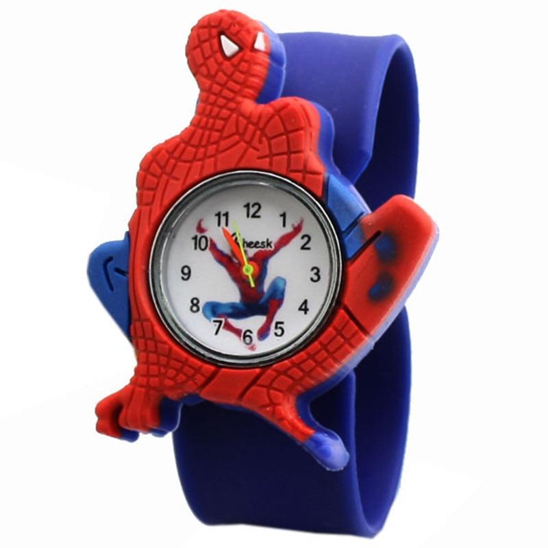 ¡Venta al por mayor! ¡novedad de 2018! Reloj para niños, relojes para niños, Hombre Araña, reloj de silicona con dibujos animados, reloj masculino