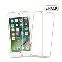 2 pçs/lote 3D Cobertura Completa Vidro Protetor de Tela de Vidro Temperado film Proteção de Tela Para iPhone6 iPhone6Plus Liga De Metal Quadro