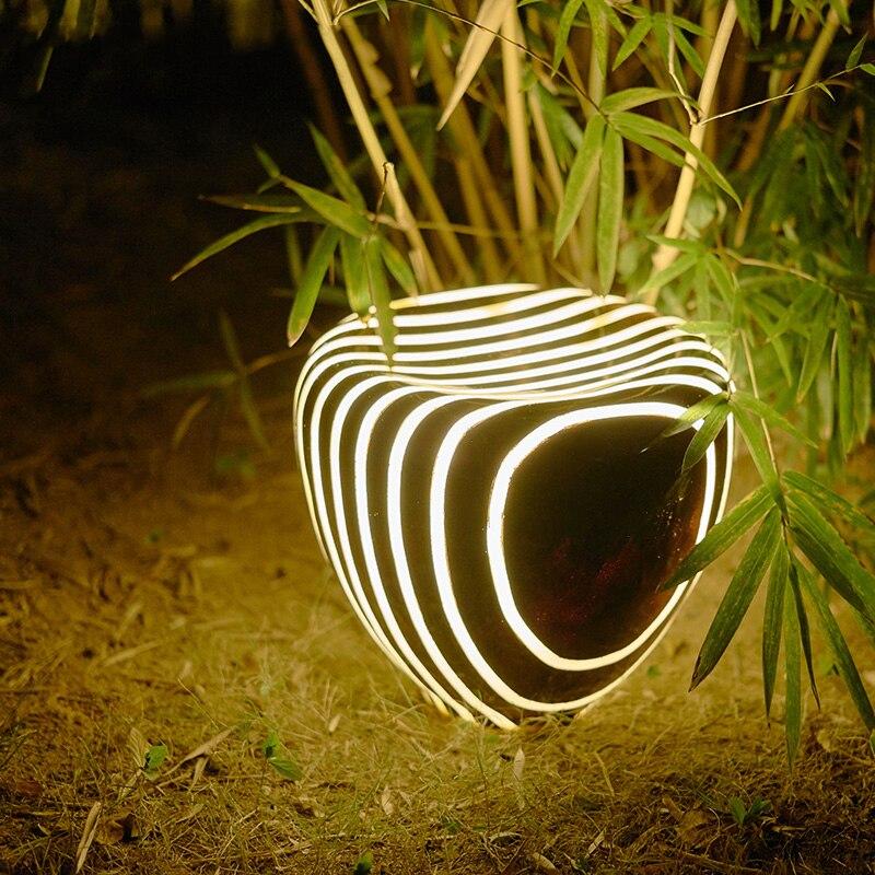 wecus criativo paisagem jardim luz parque imitacao natural luz do jardim da resina imitacao de