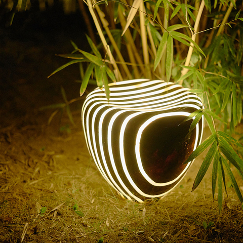 wecus criativo paisagem jardim luz parque imitacao natural luz do jardim da resina imitacao