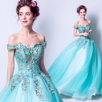 Charming Fairy Princess Quinceanera Dresses Off The Shoulder Puffy Ball Gowns Appliques Vestido Quinceanera Debutante 2019 New