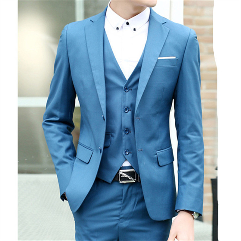 Men's Suits Custom-Made Dress Three-Piece Business Groomsman Fashion New-Arrival