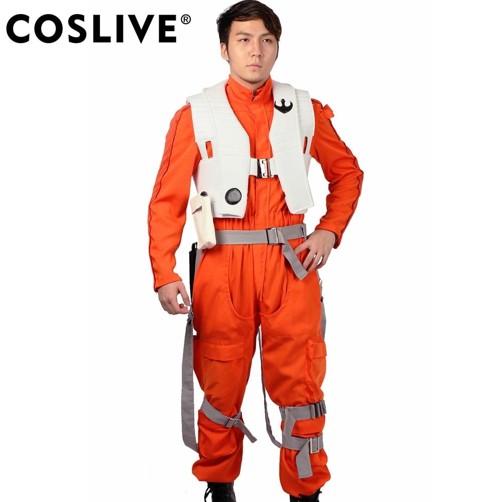 XCOSER Star Wars Poe Dameron Kostüm X-Wings Uniform Kampfanzug Anzug - Kostüme