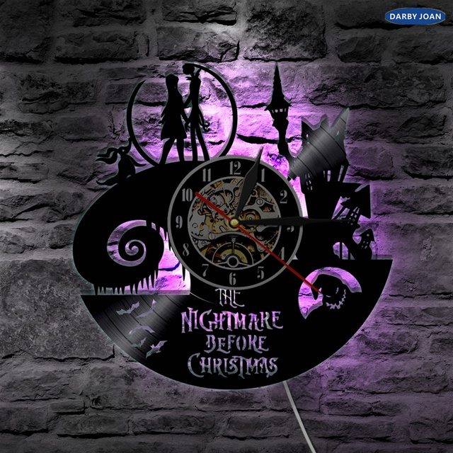 Nightmare Before Christmas LED Lighting Color Changing Wall Light Remote Controller Backlight Modern Interior Decor
