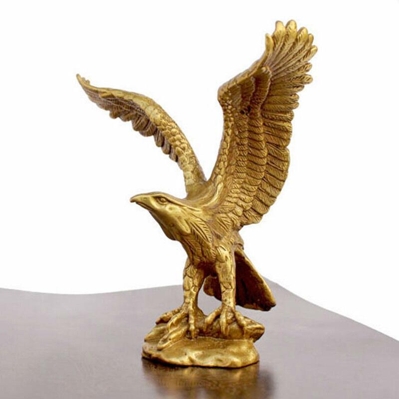 "wan67104017+++Small Bronze Brass Statue EAGLE/Hawk Figure figurine 4.5""High"