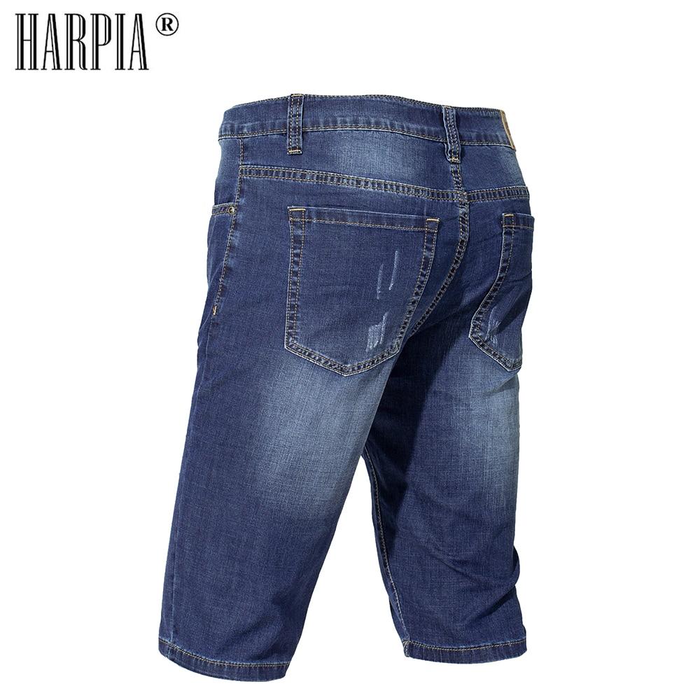 Harpia Men 39 s Clothing Summer Bermuda Male Short Jeans Denim Shorts Cotton Ripped Jeans For Men Plus Size Cowboy Pants Capris in Jeans from Men 39 s Clothing