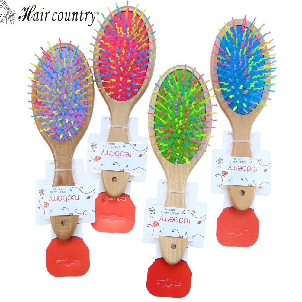 hair country Hair Brush 4 Colors Rainbow Travel Comb Volume Brush Candy Tone Magic Hairbrush