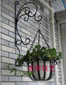 Rustic iron flower stand balcony wall hanging basket diaolan flower flower pot holder