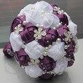 New Arrival Custom-Make Purple With White Half Ball Holding Bouquets Artificial Bouquet de de WB0018