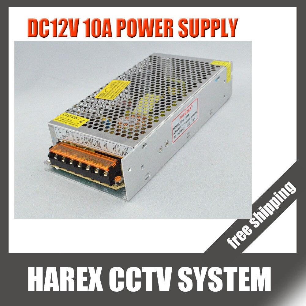 bilder für DC12V 10A 120 Watt Netzteil für Cctv-kamera CCTV-System 12 V Sicherheit professionelle, Freies verschiffen