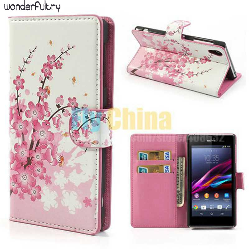Wonderfultry Phone cover Coque Sony Xperia Z1 L39H Wallet Leather Stand Case Capa Honami L39h C6902 C6903 - Fly China store