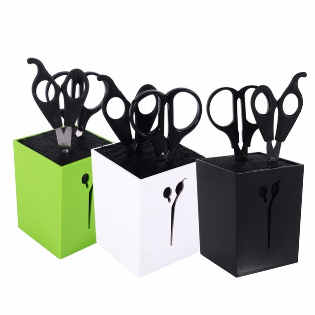 New 3Colors Hairdressing Haircut Combs Clamps Scissors Holder Stand Socket Tool
