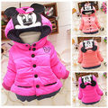 Girls Winter Coat 2016 New Korean Children's Clothing Baby Warm Padded Coat Jacket Fashion Outerwear Kids Cartoon
