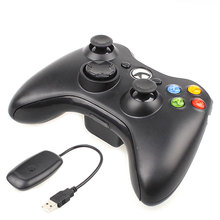 Wireless Joypad Gamepad Controller For Xbox 360 Controller Joystick For Official Microsoft PC for Windows 7 / 8  Black / White