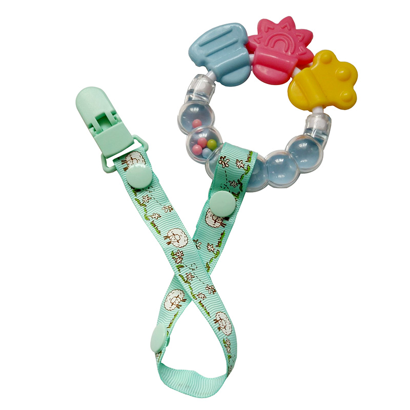 1x Baby Infant Pacifier Soother Nipple Ribbon Leash Strap Chain Clip Holder LY