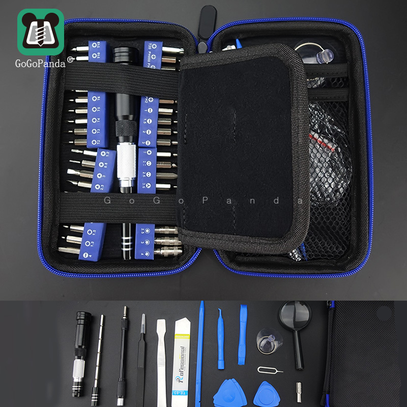 Free Shipping Screwdriver Set 46 In 1 Magnetic Precision Screw Driver Tools Speical Bits Y,Star,Torx With Hole. Socket Etc.