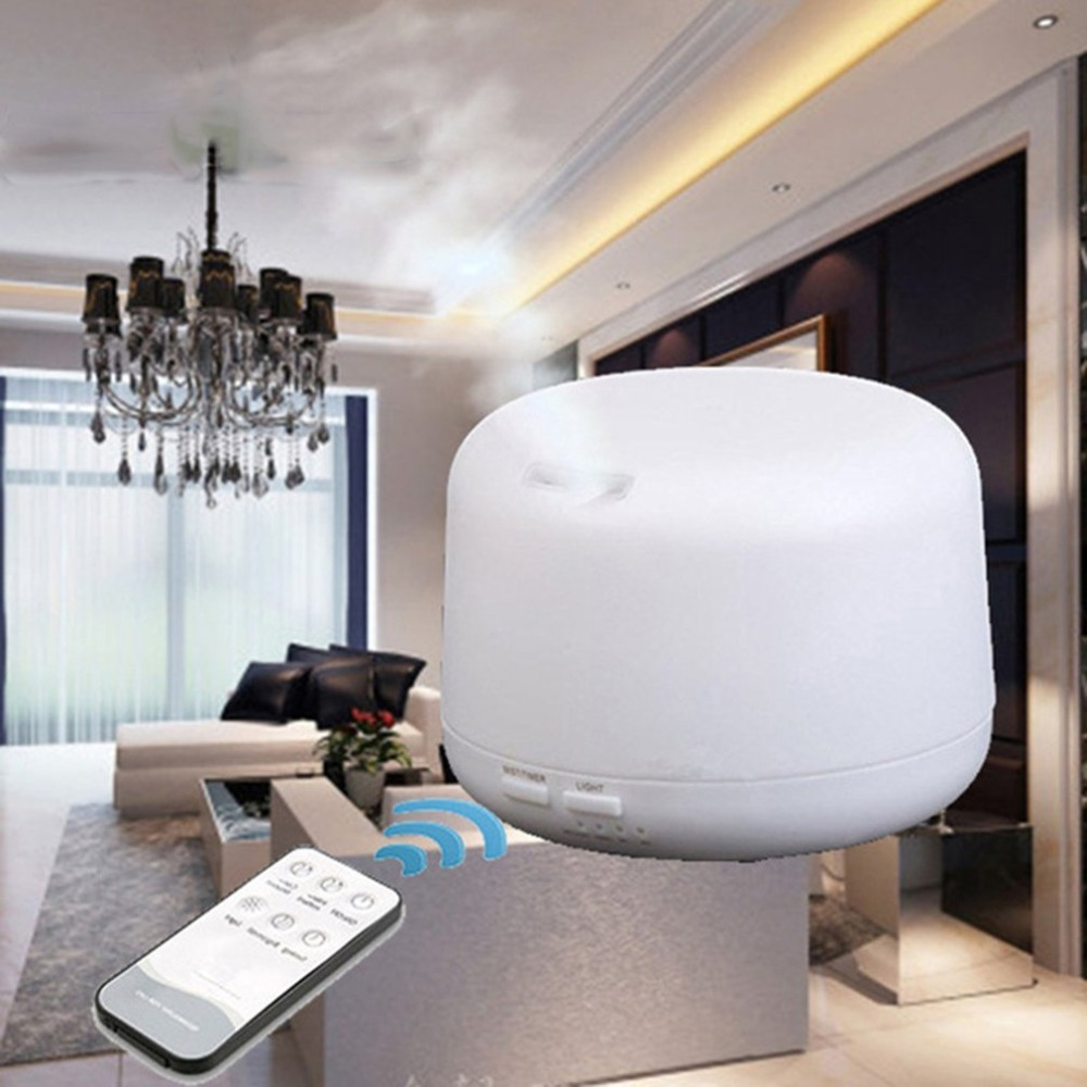 Remote Control Aroma Ultrasonic Air Humidifier 300ml Essential Oil Diffusers LED Light Mist Maker Aromatherapy Purifier US EU