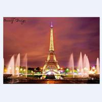 2018 New Home Decor 5D Eiffel Tower Diamond Painting Full Round Diamond Paint Embroidery Kit Romantic Rainbow Tower Cross Stitch
