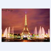 2019 New Home Decor 5D Eiffel Tower Diamond Painting Full Round Diamond Paint Embroidery Kit Romantic Rainbow Tower Cross Stitch