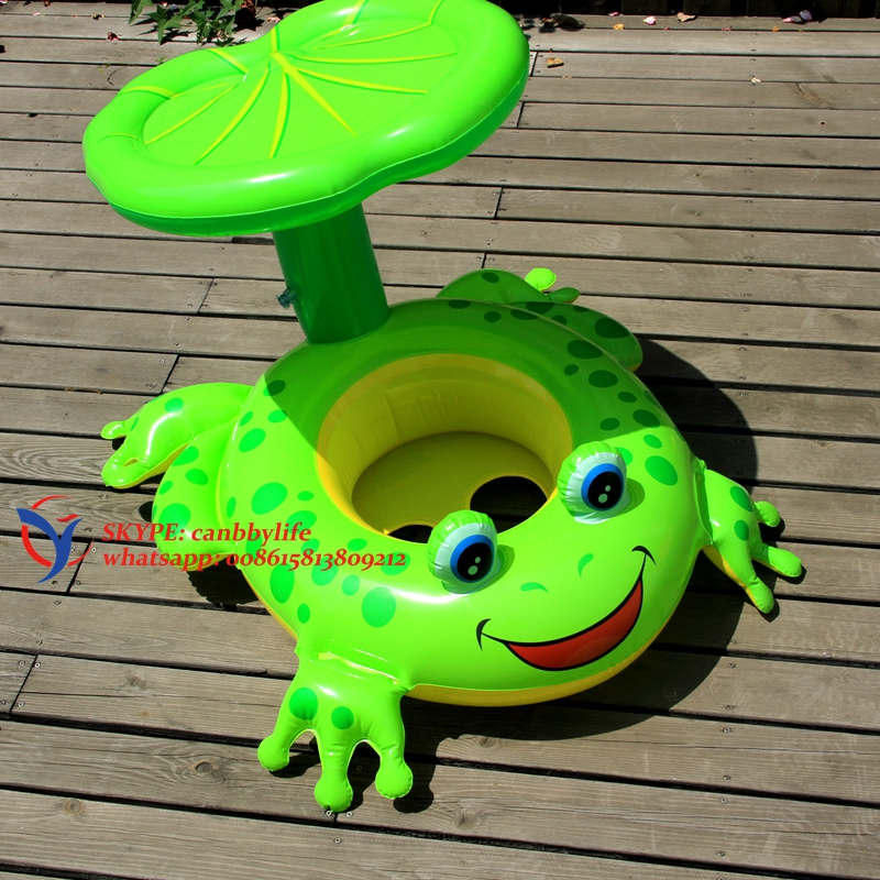 Intex Froggy Friend Shaded Baby Float Inflatable Kiddie