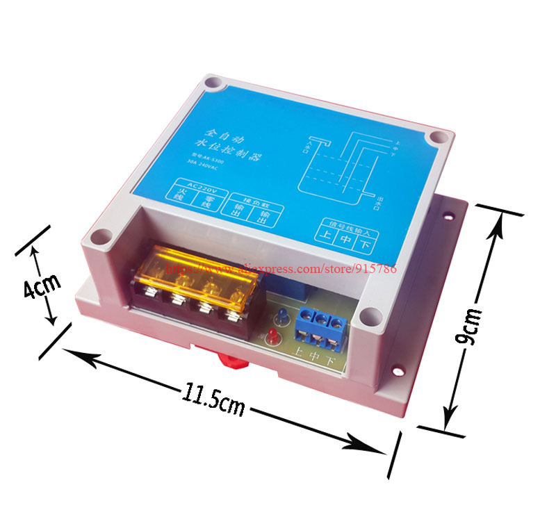 Image 2 - 1pcs Automatic electronic float water level control module / level tank water tank water tower pump pump alarm switch controller-in Sensors from Electronic Components & Supplies