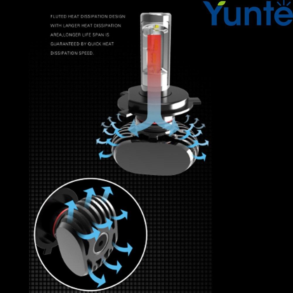 ФОТО Yunte 2 Years Warranty 9007 HB5 Led Car Headlight Lamp Bulb Xenon White 6000K H4 H8 H11 9005 9006 9012 H16 H7 LED Headlight Car