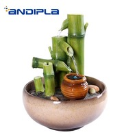 Creative Resin Feng Shui Water Fountain Bamboo Shape Waterscape Purifying Air Hotel Art Decoration Wedding Gifts Mascot Crafts