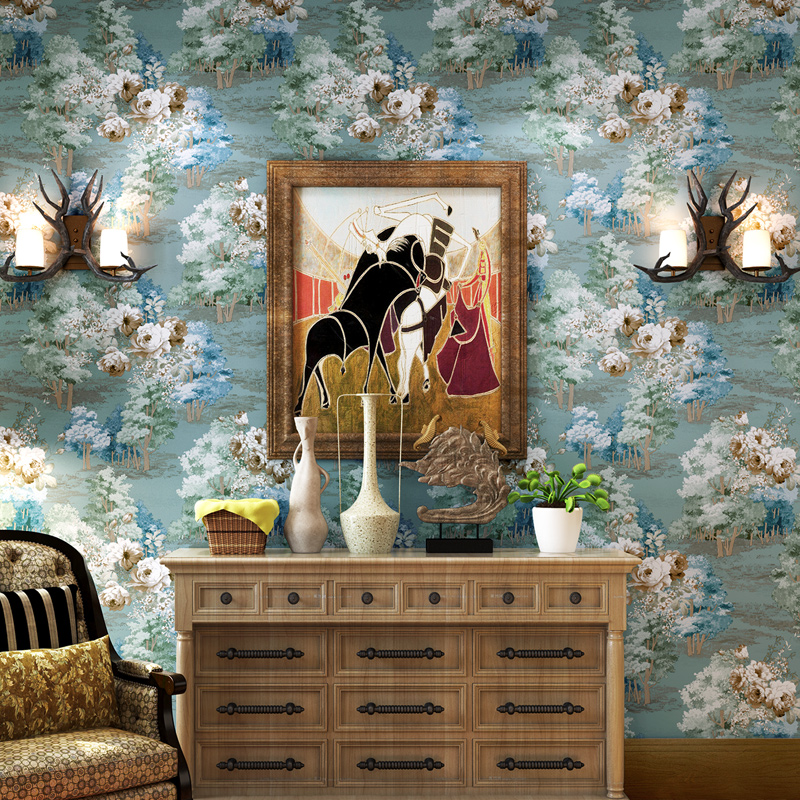 beibehang European Vintage Damask Wallpaper for walls 3 d Glitter Floral Wall paper roll papel de parede 3d TV Backdrop Bedroom