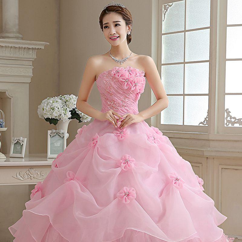 Aliexpress.com : Buy Royal Pink Princess Wedding Dress Lamya ...