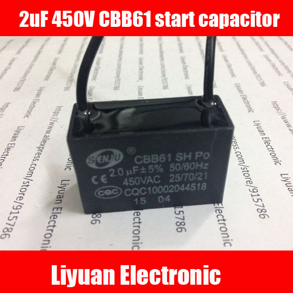 1pcs 2uf 450v Start Capacitor    Fan Start Capacitor