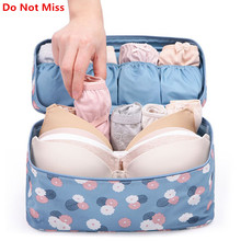 Do Not Miss 2017 New Makeup Bag Travel Bra Underwear Organizer Bag Cosmetic Daily Supplies Toiletries Storage Bra Bag case(China)