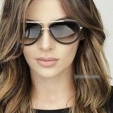 2017 Nuevo Marco Grande Piloto gafas de Sol de Las Mujeres Diseñador de la Marca de Metal Retro Gafas de sol para Mujeres de Los Hombres Gafas de sol Mujer Señoras Gafas
