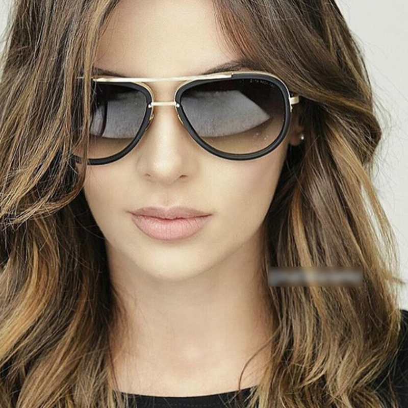 2018 New Big Frame Pilot Sunglasses Women Brand Designer