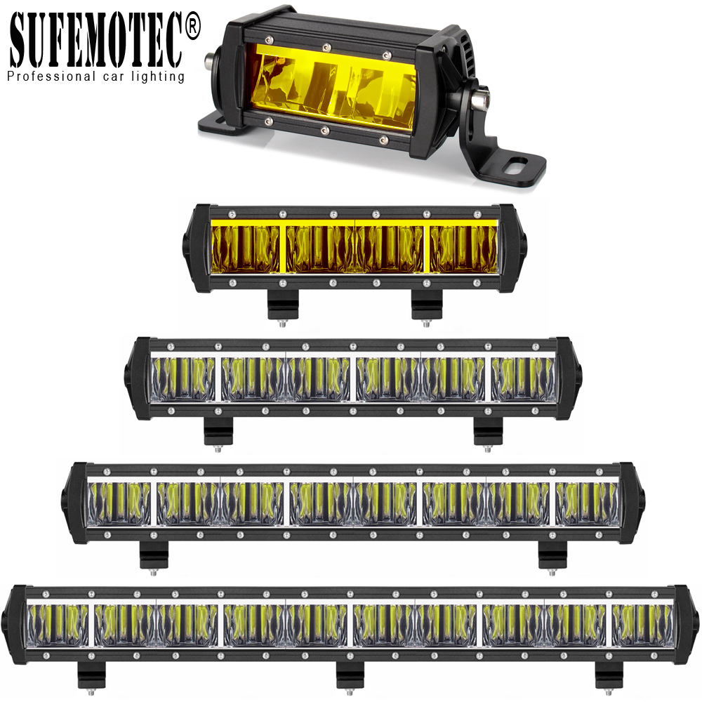 9D Lens Slim Led Light Bar For 12V 24V Car Motorcycle Tractor Boat 4x4 Off Road 4WD Trucks SUV ATV Driving Bar Offroad Lights