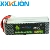 XXKLION Lipo 6S 22.2v 2600mAh 35C battery pack for rc boat RC Drone Airplane Glider Helicopter Car Model plane Free Shipping