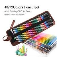 48/72 цвета дерево цветные карандаши набор эскизов рисунок комплект пенал сумки Lapis De Cor художник живопись для школы товары для рукоделия