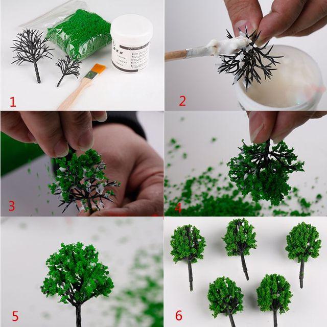 Фото миниатюрная сцена статическая трава имитирующая газонное дерево цена