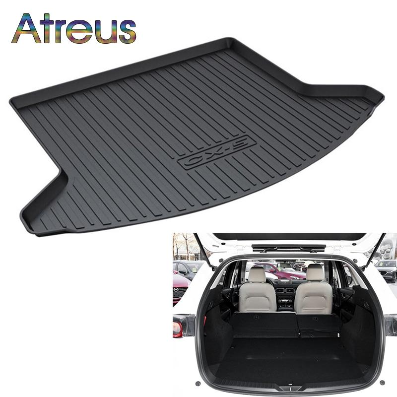 Atreus Car Rear Trunk Floor Mat Durable Carpet For Mazda CX-5 CX5 KF 2017 2018 Boot Liner Tray Waterproof Anti-slip mat atreus car rear trunk floor mat durable carpet for mazda cx 5 cx5 ke 2012 2013 2014 2015 2016 boot liner tray anti slip mat