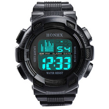 HONHX mężczyźni zegarek LED cyfrowy Data wodoodporna Sport Army mężczyźni zegarek kwarcowy Outdoor Electronics Men zegar Relogio męski Y25 tanie tanio Digital Wristwatches 20mm Gumowe Okrągłe 5Bar Szklane Akrylowe Bowake 40mm Wodoodporny J0704 Klamra No package 25cm Chiny kontynent