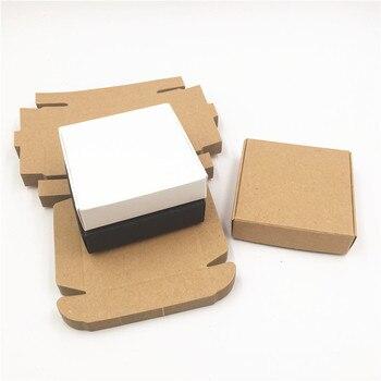 30 unids/lote marrón negro blanco DIY cajas de papel Kraft para el Día del Padre calcetines regalos paquete cajas de almacenamiento al por mayor