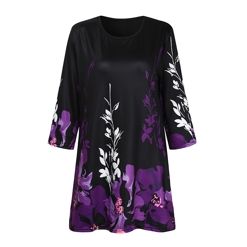 S-5XL Women Printed Blouse Shirt Women's Casual Half Sleeve O-Neck Fashion Tunic Tops Woman Summer Spring Clothing Femme Blusas