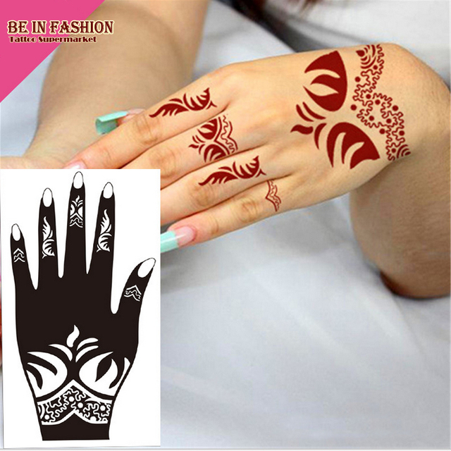 1pc tattoo airbrush stencils body painting henna stencil large