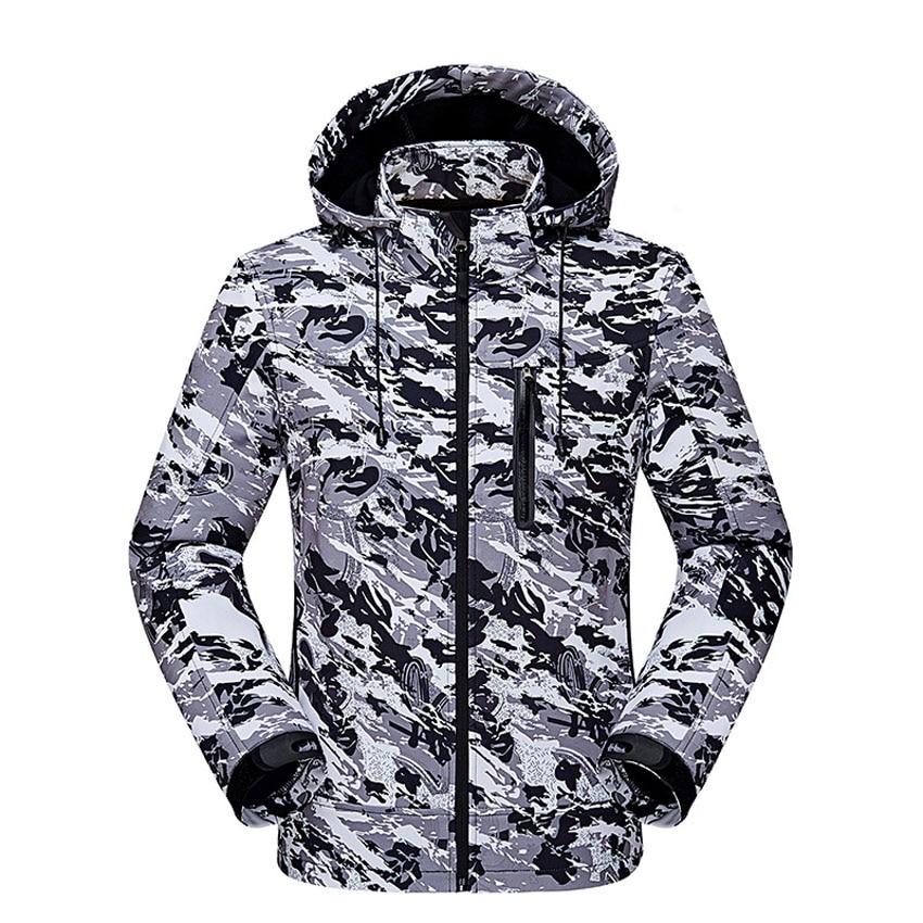 New Men s Winter Jackets Waterproof Windproof Fleece Jacket Casual Hooded Coats Mens Raincoats Male Brand