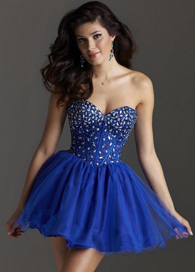 Vestidos curtos azul para debutante