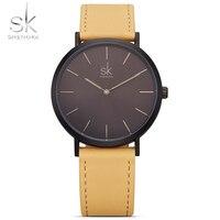 SK 2018 New Fashion Simple Style Elegant Womens Wrist Watch Leather Band Luxury Brand Ladies Geneva
