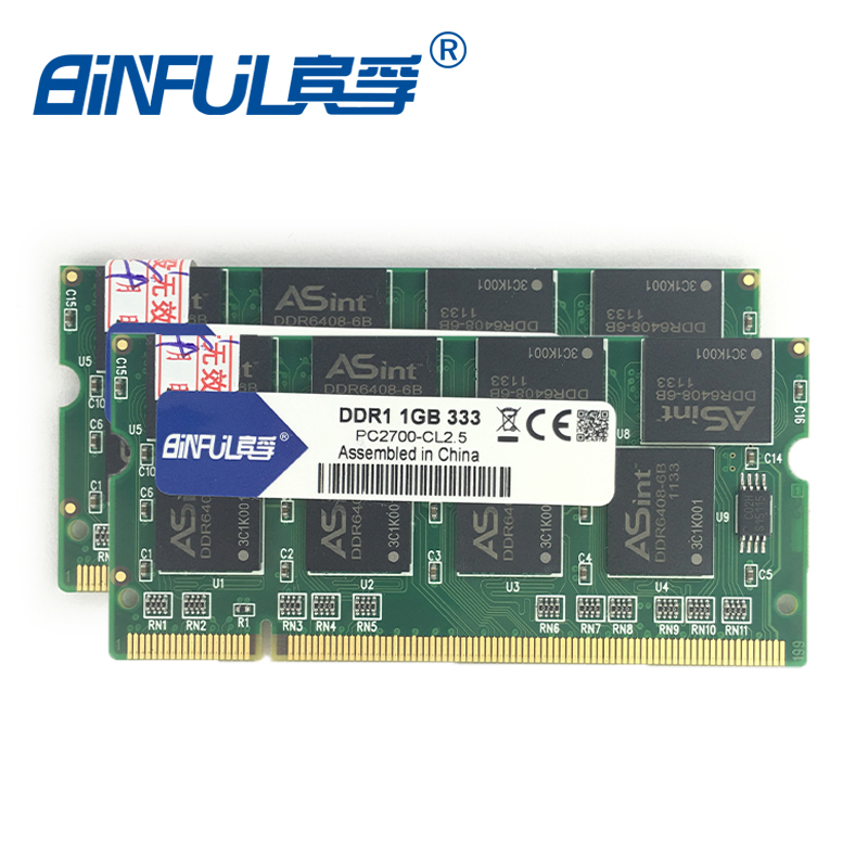 Binful ddr 2GB(Kit of 2,2X1GB) PC-2700 DDR 333mhz MEMORY ram 200PIN Laptop SDRAM Notebook for hp for pavilion dv7 dv7t dv7 7000 laptop motherboard 682220 001 682220 501 ddr3 integrated 100