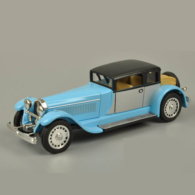 1: 28 Vintage Bugatti Car Model Alloy Pull Back Flashing Classic ...