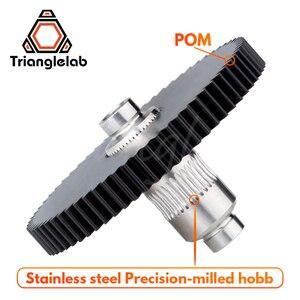 Image 2 - Trianglelab edelstahl Präzision gefräst hobb Titan Getriebe & motor getriebe 1SET GETRIEBE KIT für 3d drucker reprap titan Extruder