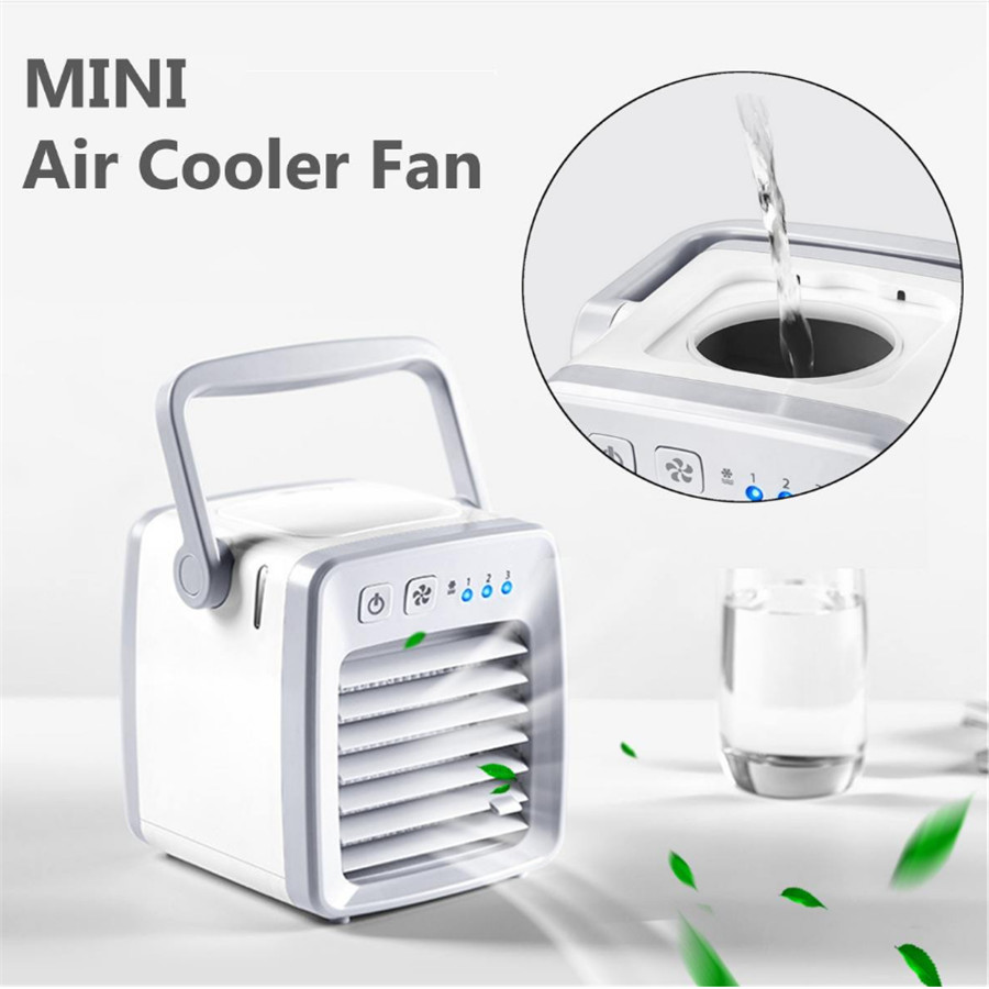 Mini Portable Electric Air Conditioner Fan Cooler Arctic Cooling USB Humidifier Space Air Conditioning Device Home Office Desk