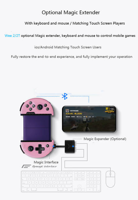 US $6 7 15% OFF Flydigi wee 2T pubg mobile game controller Support Body  sensation keyboard and mouse converter gamepad for ios/android-in Gamepads